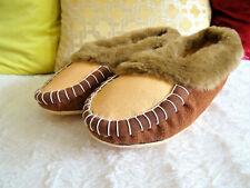 Men's UNI Moccasins slip-on Soft Velour Plush Shoes Flats Breathable Sz 8.5 GLJ
