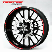 Tracer 900 motorcycle wheel decals rim stickers set stripes Laminated mt09 red