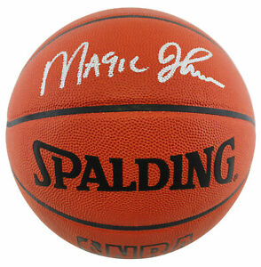 Lakers Magic Johnson Authentic Signed Official NBA Game Basketball BAS #BA74020