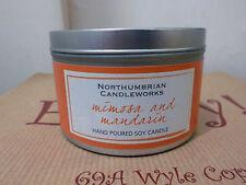 Northumbria Mimosa & Madarin vela olfateada Tin 30 horas tiempo de consumo de soja de cera