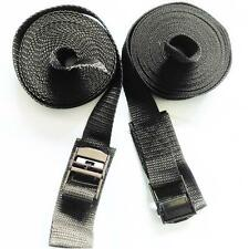 "2 x 5m cam buckle tie down luggage straps 5 metre (16'3"") kayak / canoe 22"