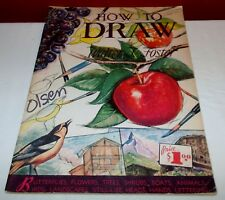 Vintage HOW TO DRAW Walter T. Foster Paperback Book  ^