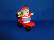 Fisher Price Little People Eddie red skateboard