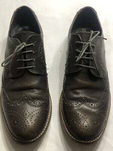 Red Tape Men's  Leather Wingtip Oxfords 564426 Brown Lace Up shoes 10.5