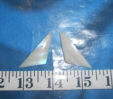 ~ Mother-of-Pearl (MOP) Shell Jewelry Blanks ~ Polished Ivory-Color Triangles ~