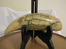 Pms Artex Resin Replica Scrimshaw Whale's Tooth