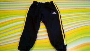 Adidas Sweathose/Joggers Gr. 98. Schwarz/Gelb