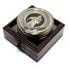 Antique Collectible THE CROCODILE HUNTER Compass 3 Inch Nautical With Wooden Box