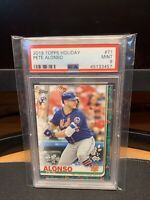 2019 Topps Holiday - Pete Alonso Rookie RC - PSA 9 - New York Mets - FREE SHIP✅