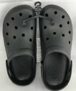 Crocs Coast Black Clog Men's Size 10 Women Size 12 Sandal