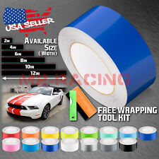 Gloss Color Racing Stripes Vinyl Wrap For Ford Mustang Stripe Sticker 25FT /50FT