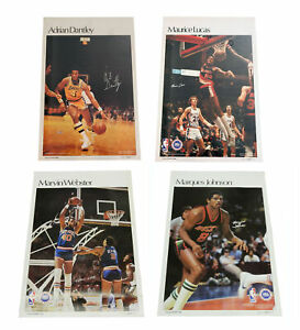 Lot of (4) Different 1978 Sports Illustrated Basketball Posters Dantley Lucas