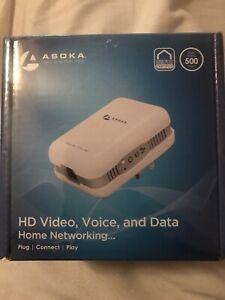 Asoka PlugLink PL9671-A2 ETH 500 Ethernet Extender Home Networking New