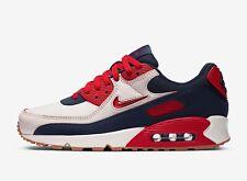 Nike Mens AIR MAX 90 Premium Sail / University Red Trainers - uk 7 - eu 41 -