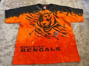 Cincinatti Bengals NFL Football Tie Dye T Shirt XL Limited Edition Pattern