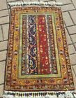 2'X3' HAND-KNOTTED CAUCASIAN SHIRVAN KAZAK TRIBAL VINTAGE WOOL MUTED VG-DY RUG
