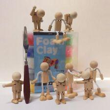 Foam Clay Modelliermasse mit Kügelchen Perlen - Bastelsets mit Grundkörper