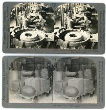 2 Keystone Stereoviews - Rubber Industry