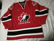 2002 Nike Team Canada Retro VTG Jersey  Red Black White SZ XL stitched blank