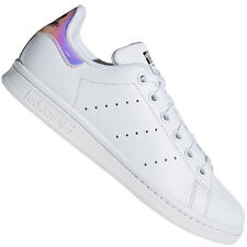 Adidas Originals Stan Smith Jeunesse Blanc/irisé Baskets Cuir 4 UK / 36.6 eu