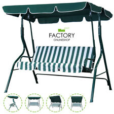 Outdoor Canopy Swing Patio Chair Lounge 3-Person Seats Hammock Porch Steel Bench