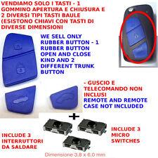 TASTI PER CHIAVE GUSCIO FIAT PANDA STILO IDEA MUSA BLU LANCIA YPSILON +3 Switch