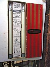 "Retro Vintage  MILBERN 12"" Chrome Candle Lighters Still in Original Box"