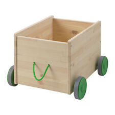 Cart With Wheels Children's Toy Storage Box Playroom Bedroom Play Ikea FLISAT