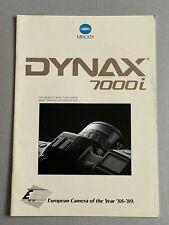 Minolta Dynax 7000i, 35mm Film Camera, A4 Paper Brochure, 24 Pages