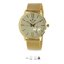 Mens Gold Executive Collection Classic Metal Band Fashion Watch -FREESHIPPING