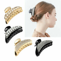 Women Luxury Hair Headwear Crystal Rhinestone Large Hot Claw Clip Hairpin