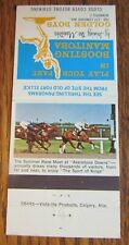 HORSE RACING SPORTS MATCHBOOK COVER: ASSINIBOIA DOWNS (WINNIPEG, MANITOBA) -E13