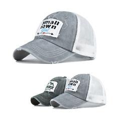 Unisex Patch Distressed Mesh Back Baseball Caps Dad Hats Trucker Vintage Sun Hat