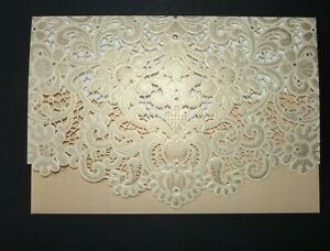 Lace Effect Gold Gift Money Vouchers Wallet /Envelope for Wedding Birthday