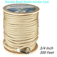 NovelBee 2 Pack of Double Braid Nylon Dock Line,Mooring Rope with Loop and Chafe Guard 1//2 Inch,15 Feet