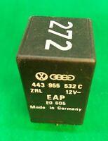 AUDI VW 6 PIN NO 272 BLACK Control Unit Relay Module 443955532C