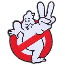 """Ghostbusters movie 2 II No Ghost Embroidered Iron On / Sew On Patch 3.5""""X3.8"""""""