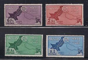 Pakistan   1960   Sc # 108-11   Map   MNH   OG   (53747)