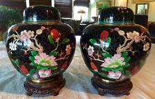 """PR Cloisone Temple Jars w/ lids, Master Quality, 27"""" C, Vintage pre 1970's"""