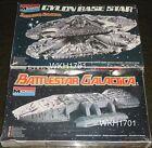 BATTLESTAR GALACTICA & CYLON BASESTAR Silver Model Kits 1978 Monogram + Bonus!