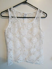 GIRL EXPRESS  size  8  Lovely Cream Embroidered Lace SUMMER Top