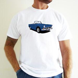 SUNBEAM ALPINE CAR ART T-SHIRT. PERSONALISE IT!