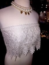 CLUB PARTY TOP LACE CROCHET Strapless Boho EVENING LACE SHIRT SEE YOU MONDAY