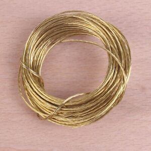 6 Meters BRASS PICTURE HANGING WIRE Photo Large Frame Hanger Cable 6m Long