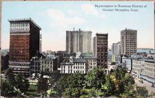 Memphis, TN 1910 Postcard: Skyscrapers, Business Dristict - Tennessee Tenn