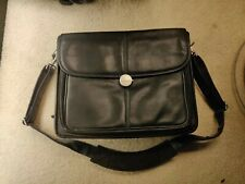 Dell Laptop Leather Carrying case Bag with carrying strap and handle 20 in