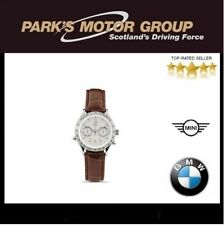 BMW Genuine Wrist Watch Ladies Womens Brown Leather Stainless Steel 80262406686