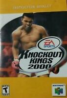 Knockout Kings 2000 - Authentic Nintendo 64 (N64) Manual