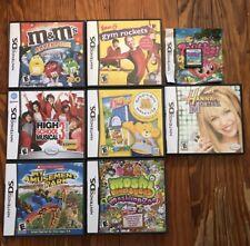 Lot of 8 Nintendo DS Games Zoobles, Moshi, Hannaha, M&M, HS Musical, Gym, Park