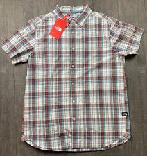NWT Mens Northface Short Sleeved Button Up Hammetts Plaid Shirt Size XL $55